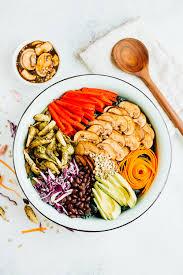 kale detox salad eating bird food