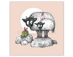 cute sheep illustration christmas quirky xmas cards original