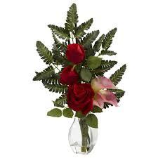 pink calla pink calla silk flower arrangement with vase