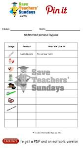 personal hygiene worksheets printable worksheets for personal