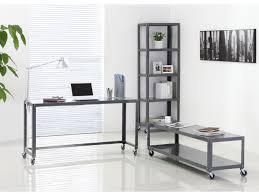 bureau roulettes pack rentrée meuble tv étagère et bureau alcali sur roulettes