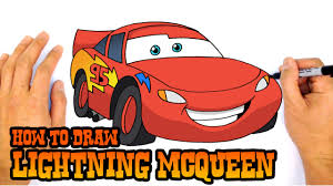 kid car drawing how to draw lightning mcqueen cars 3 youtube