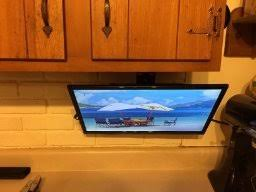 Rv Under Cabinet Tv Mount Under The Counter Tv For Kitchen With Mount U0026 Dvd