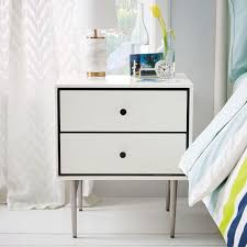 sing drawer white lacquer nightstand