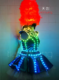 tc 064 led dress led light costume led costumes led clothes led