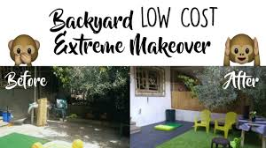 backyard makeover on a budget before u0026 after youtube