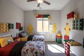 Boys Room Area Rug Lego Themed Kids Room With Contemporary Design And Twin Platform