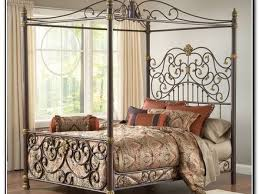 56 twin metal canopy bed white with curtains bed canopy curtains