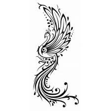 small size black phoenix tattoo photos pictures and sketches