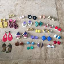90 s earrings vintage jewelry 80s 90s earring lot dangle stud patterns poshmark