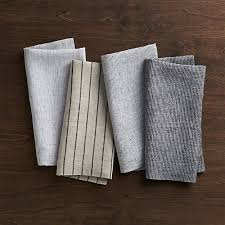 suits linen cloth dinner napkins set of 4 crate and barrel