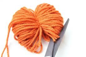 fall crafts simple diy yarn pom pom pumpkins