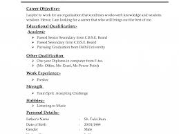 Educational Qualification In Resume Format Different Types Of Resumes Examplestypes Resume Formats 11