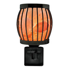 himalayan glow ionic crystal salt basket l black metal framed salt nightlight rotatable nighlights