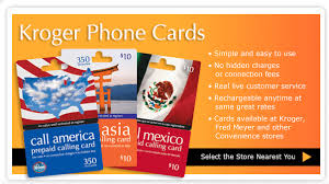kroger phone cards pages