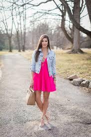 pink skater dress a southern drawl