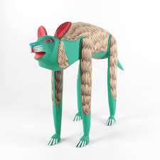 painted wood sculpture of animal ebth