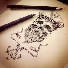 ships wheel tattoo designs grey ink old anchor and ships