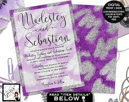 Purple And Silver Wedding Invitations Wedding Save Maps Gvites