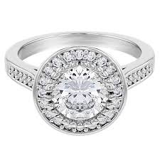 engagement ring walmart clear cubic zirconia vintage solitaire wedding engagement