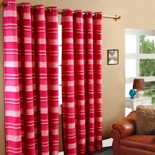 Pink Striped Curtains Morocco Cotton Ribbed Striped Curtains Ready Made Colours Curtain