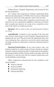 Situation Action Result Resume Examples by Competency Based Interviewing