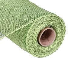 wide mesh ribbon deco poly mesh ribbon moss apple lime green foil metallic 10