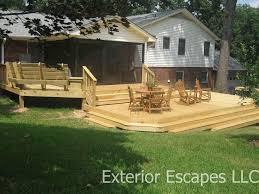 non wood deck options home gardens