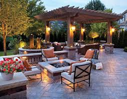 Outside Patio Lights And Artistic Outdoor Patio Lights Backyard Landscape Design