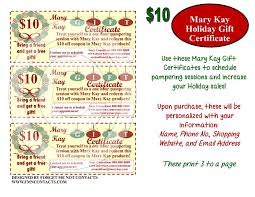 holiday coupon mary kay holiday gift certificates forget me not contacts