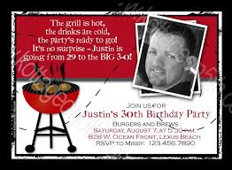 30th Birthday Invitation Cards 40th Birthday Invitations For Men Burgers N Brews Bbq Birthday