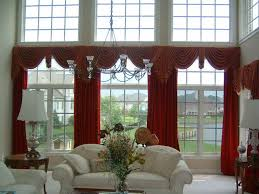 Family Room Drapery Ideas Swag Curtains For Living Room Great Curtain Valances For Living