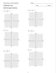algebra 1 graphing linear equations worksheet free worksheets