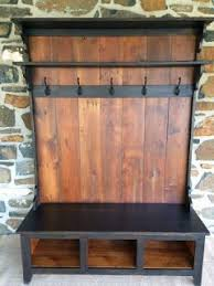 Entryway Bench With Storage And Coat Rack Entryway Coat Rack And Bench Made From Pallets House Ideas