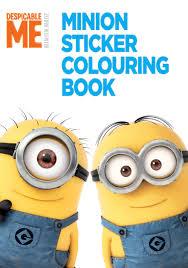 despicable minion sticker colouring book book universal