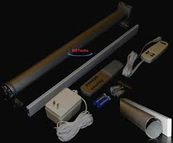 Electric Roller Blind Motor 8 U0027 Remote Electric Shade Blind Curtain Roll Up Down Rod Ebay