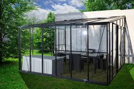 serre horticole en verre serre grise jardin d u0027hiver 11 9m adossable avec base serre grise