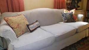 Camelback Sofa Slipcover by Living A Cottage Life Camel Back Sofa Slipcover Part 2