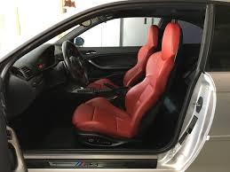 Comfortable Racing Seats Imola Red Interior Z4m Front Seats Door Panels Arm Rest Pads