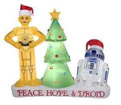 lighted wars droids lawn