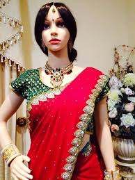 wear long necklace images Bollywood indian bridal temple long necklace earrings jewellery JPG