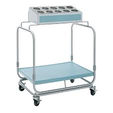 delfield uts 1ss tray and silverware cart with 10 hole flatware