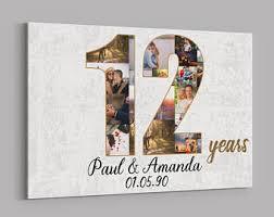 12th anniversary gift ideas 12th anniversary etsy
