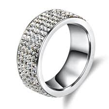 rings jewelry love images 5 rows crystal stainless steel ring for love wedding rings jewelry jpg