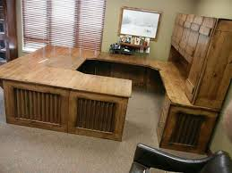 rustic solid wood desk made from knotty alder aged barn tin and