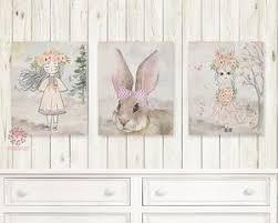 bunny nursery ethereal boho girl bunny nursery wall print baby room