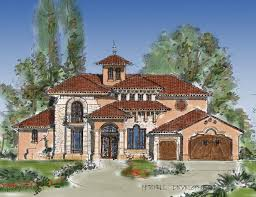 planning design for tuscan mediterranean with warm impression