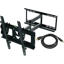 Tv Wall Mount With Shelf For Cable Box Ematic Tilting Tv Wall Mount Kit With Hdmi Cable For 30