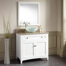 White Bathroom Cabinet 36