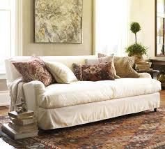 living room 3 cushion sofa slipcover pottery barn slipcovers for